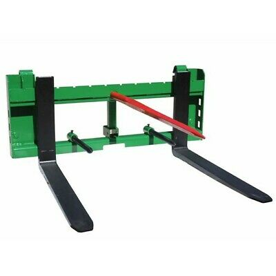 "Titan 36"" Pallet Fork 49"" Hay Bale Spear Attachment w/ Trailer Hitch fits John d"