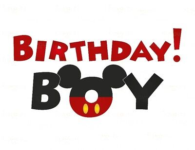 Disney Birthday Boy Mickey Mouse