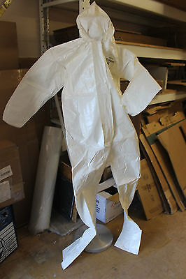 DuPont Tychem Coveralls SUIT Hood Boots Case Of 12 SL122B WHITE 2X LARGE
