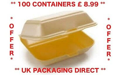 Cheap Polystyrene Foam Takeaway Food Box 100  Fish Chips Burger Box HP2 MB9 HB9