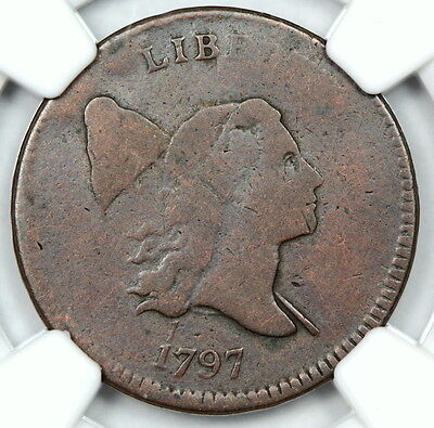 NGC G6 1797 1 OVER 1 LIBERTY CAP HALF CENT 1/2c  (ENN)