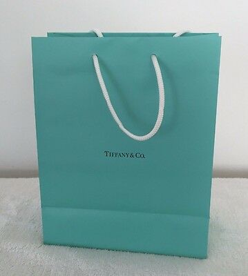 Tiffany & Co Turquoise Blue Paper Gift Bags Lot Of 5