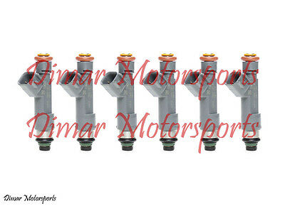 *BEST UPGRADE* Flow Matched Fuel Injector Set of (6) Upgrade With 4 Hole Tips