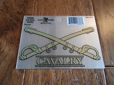 U.s Military Army Cavalry Cross Sabres Window Decal Sticker Official Army Produc