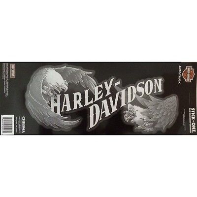 Harley-Davidson Text With Eagles Rear Window Back Adhesive Stick On Decal