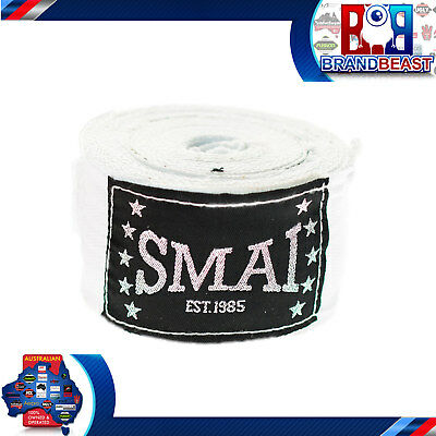 Smai White Traditional Hand Wraps Bandages Boxing Inner Gloves Muay Thai Mma