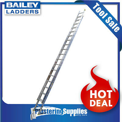 Bailey Extension Ladder   6.0m 18 Step Professional Punchlock  FS13417