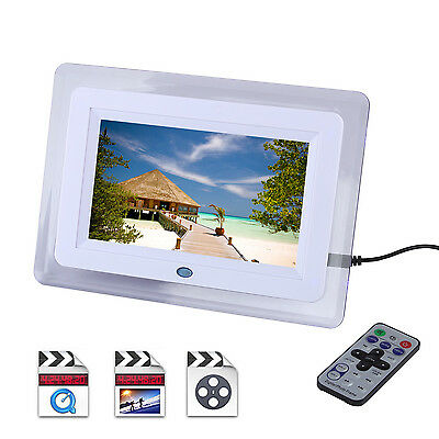 "7"" Digital LED Multi-function Picture Video Photo Frame Video Player USB SD MPEG"