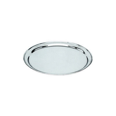 Round Platter 250mm Stainless Steel Rolled Edge Serving Plate Catering Tray NEW