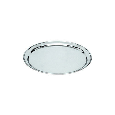10x Round Platter, 250mm, Stainless Steel, Rolled Edge, Plate / Catering