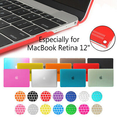 """For MacBook Retina 12"""" Inch A1534 Rubberized Hard Case &Silicone Keyboard Cover"""