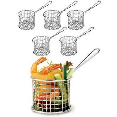 6x Serving Basket, Fryer Style, Unique Presentation, Round, Athena 93mm
