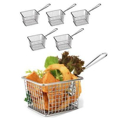 12x Serving Basket Fryer Style, Unique Presentation, Rectangular Athena 118x98mm