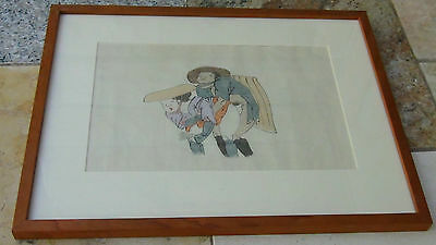 EARLY 20c JAPANESE SHUNGA WOODBLOCK PRINT GALLERY FRAMED  # 5 out of 8