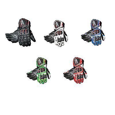 RST Tractech Evo CE Approved Leather Motorcycle / Bike Gloves