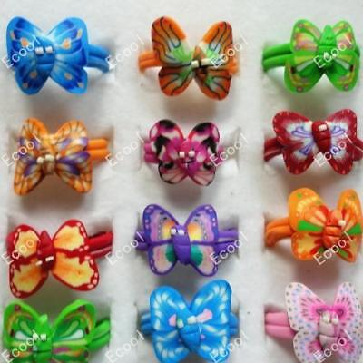 110pcs Children Polymer Clay Rings Wholesale Jewelry Mixed Lots