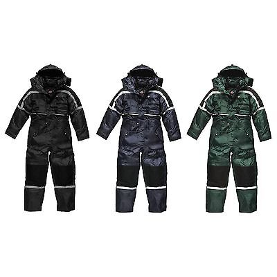 Dickies Men's Padded Waterproof Rain Suit/Overalls - Work / Motorcycle / Fishing