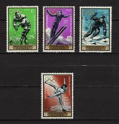 14541) GUINEE 1964 MNH** Winter Olympic Games 4v