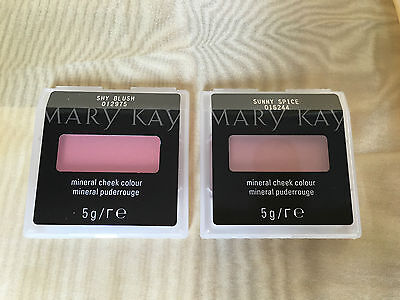 Mary Kay Mineral Cheek Colour Sunny Spice * Cherry Blossom * Shy Blush 2St Rouge