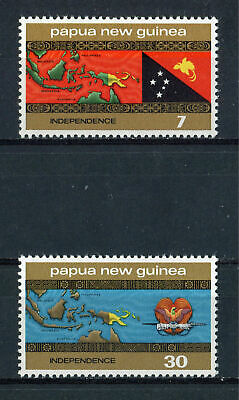 s8715) PAPUA & NEW GUINEA MNH** 1975, Independence 2v