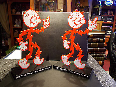 "1 Rare Reddy Kilowatt Display Desk ""Your Electric Servant"" ELECTRICIAN GIFT"