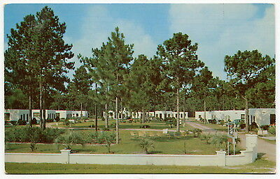 """1953 Vintage Postcard: """"PERRY MOTOR COURT"""" [Perry, Florida]"""