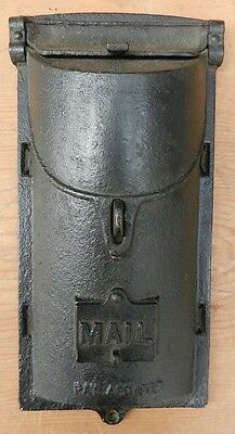 Antique Cast Iron Mailbox PAT APD FOR with Peep Hole B1