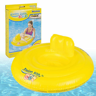 Bestway Safe Step A Baby Support Swiming Pool Seat Ring Trainer Float 0-1 Years