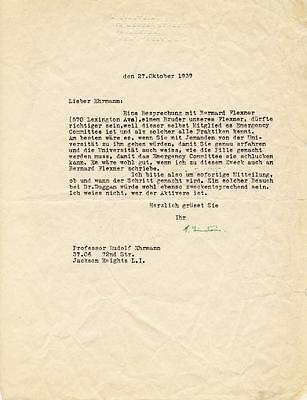 Albert Einstein - Typed Letter Signed 10/27/1939