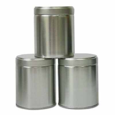 Set of THREE Wide Twist Top Tea Tin (2 Cup / 16oz)