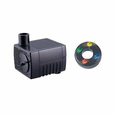 Jebao Pp300Lv+Led 2.5W Submersible Water Fountain Pump Adjustable Speed 40Gph