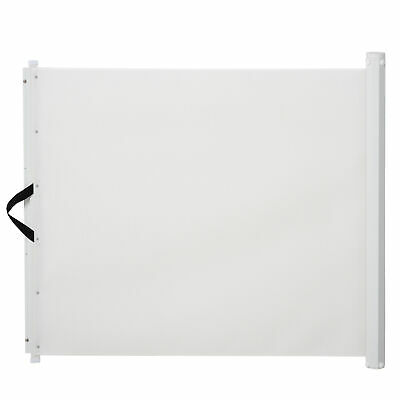 PawHut Retractable Pet Safety Gate Folding Stair Barrier Guard Door