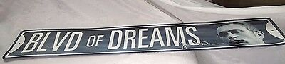 "BLVD OF DREAMS  , metal street style  sign,  JAMES DEAN big 24"" x 5"" 8a"