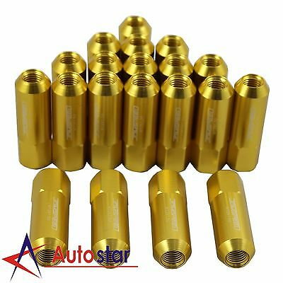 20PCS Gold M12X1.5 60MM Aluminum Tuner Racing Lug Nuts For Acura Honda Toyota