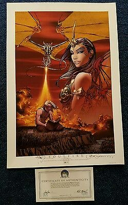 2003 Aspen Comics Soulfire Cover To Preview Print /50 Signed Michael Turner