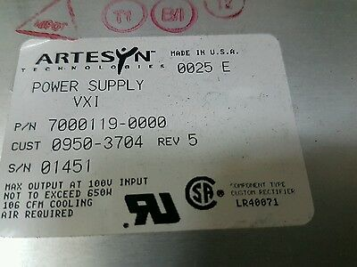 Artesyn Vxi 7000119-0000 Power Supply