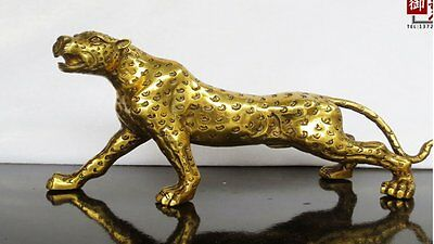 bronze leopard household act  role ofing  tasted handicraft furnishing articles