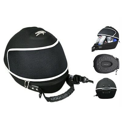 Motorcycle Helmet Bag Luggage Carry Case Backpack Black 3/4 Open Face Helmet