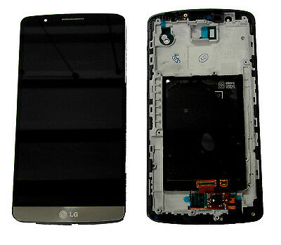 Lg G3 D850 D855 Complete Lcd Display Touch Screen Digitizer & Frame Grey/black