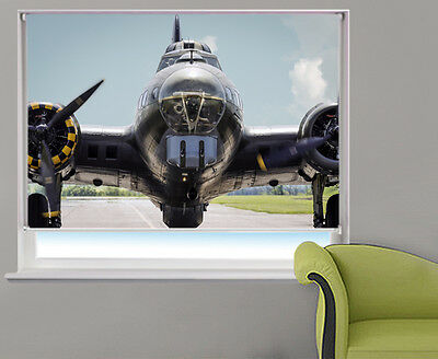 Boeing B17 plane ready for take off Printed Photo Picture Roller Blinds Any Size