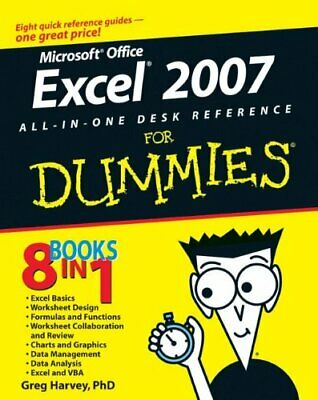 Excel 2007 All-In-One Desk Reference For Dummies by Harvey, Greg Paperback Book