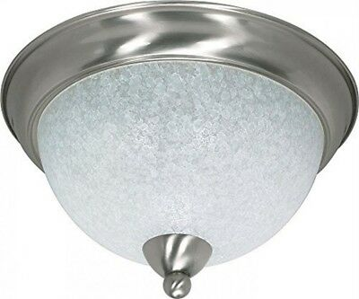 """Nuvo 60-131 - 15"""" Flush Ceiling Light Fixture in Brushed Nickel Finish"""