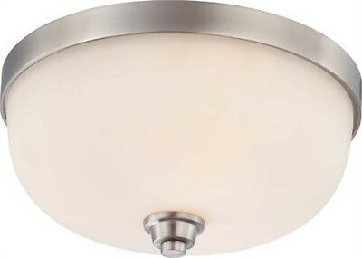 Nuvo 60-4193 - Flush Mount Light Fixture in Brushed Nickel Finish