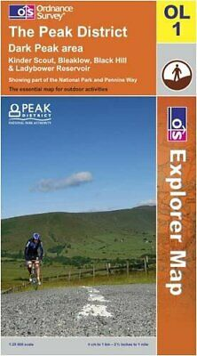 The Peak District: Dark Peak Area (OS Ex... by Ordnance Survey Sheet map, folded