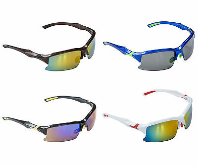 ACCLAIM Running Bowls Sunglasses Plastic Frame Rainbow & Tinted Case & Cloth