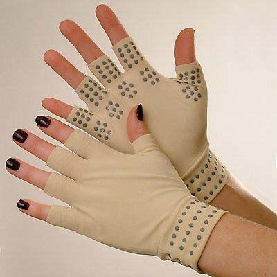 Arthritic Magnetic Joint Compression Finger-less Gloves For Pain Relief (Pair)