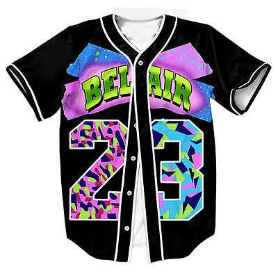Air Bel Air 23 Baseball Tee Amerian Football Jersey Varity Sports Raglan T Shirt