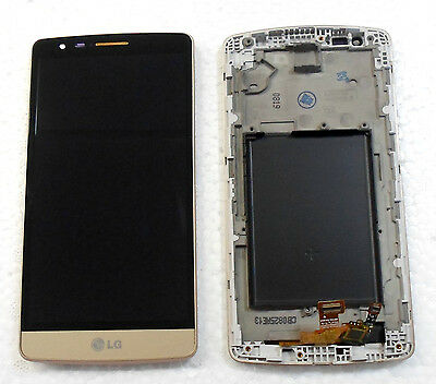 Lg G3S G3 Mini D722 D725 Lcd Display Touch Screen + Digitizer & Frame Gold