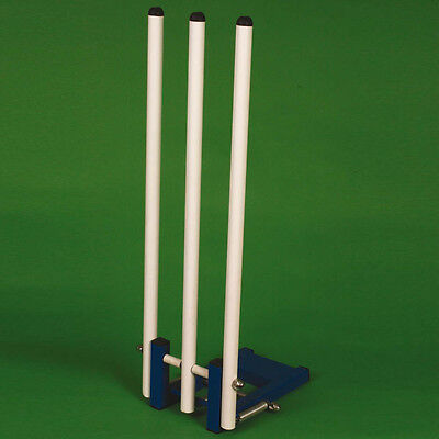 Any Surface Heavyweight Metal Base Wickets Spring Return Cricket W/ Steel Stumps