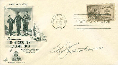 Thomas J. Watson Sr. - First Day Cover Signed
